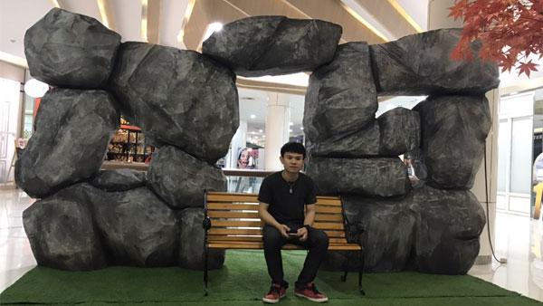 Moc-up-หินเทียม